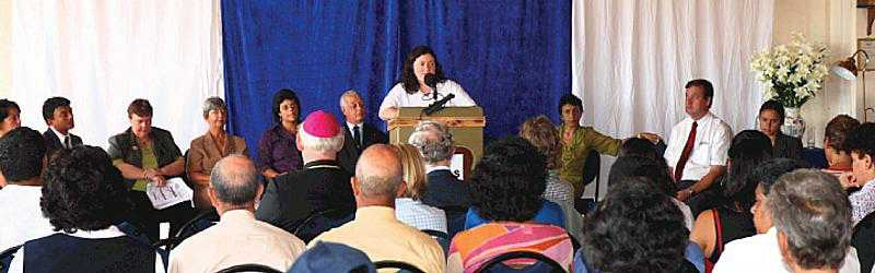 Catherine Turner speaking at the AVES Awards Ceremony April 2009 (Photo St Helena Independent) Burgh House Training & Development News Archives